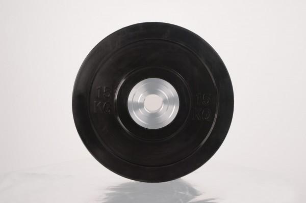 Bumper Plate SQMIZE® BBPS15 Training 2.0, schwarz - 15 kg