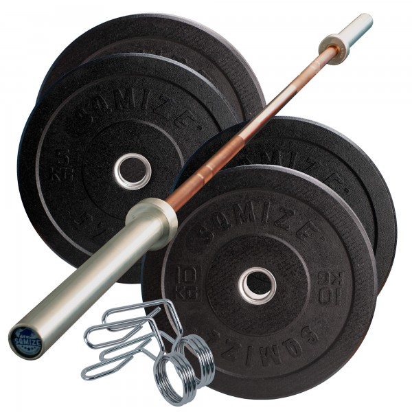 Crump Bumper Plate Langhantelset SQMIZE® CRBS30 Starter, 50 kg
