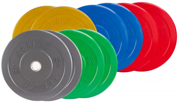 Bumper Plate Set SQMIZE® CBP150 Training - 150 kg