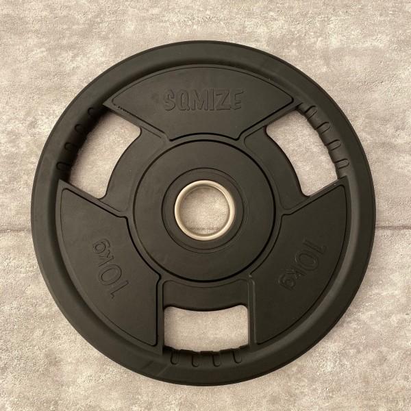 Olympia Hantelscheibe SQMIZE® OPRD10 gummiert, 10 kg