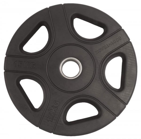 Hantelscheibe Body-Track® OPRB15 Gummi schwarz 50 mm