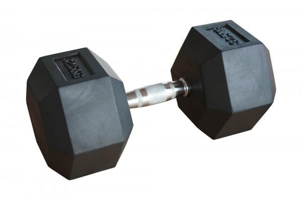 Hex Dumbbell SQMIZE® HDBR32.5 gummiert, 32,5 kg