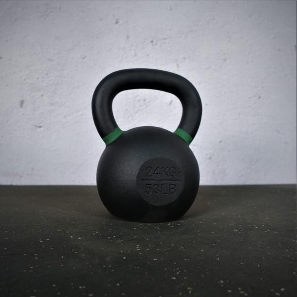 Black Kettlebell SQMIZE® BFK24 farbcodiert, 24 kg, grün
